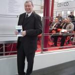 """Peter Wolff stellt auf der CeBIT in Hannover sein Buch über """"Die Macht der Blogs"""" vor"""