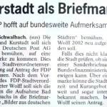 Peter Wolff - Kurstadt als Briefmarke